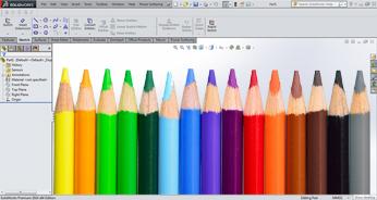 مفهوم رنگ ها در محیط اسکچ سالیدورک